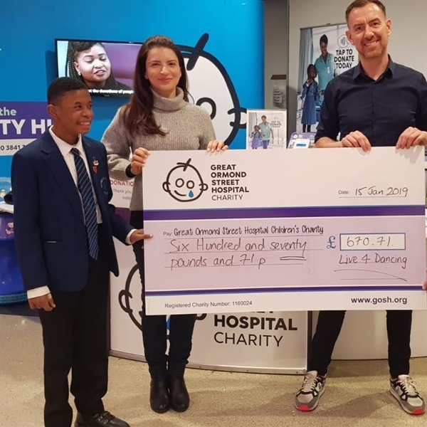 Leaways pupil raises over £600 for Great Ormond Street Hospital.