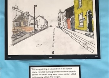 L S Lowry is inspiring Olsen's KS3 art group.