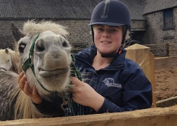 Working with horses is helping Kerry get...